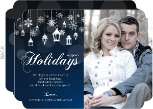 Whimsical Winter Lantern Holiday Photo Card