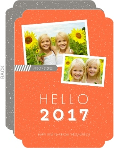 Bright Orange Modern Type New Years Card