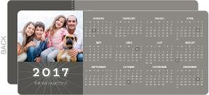 Simple Gray Calendar New Years Card