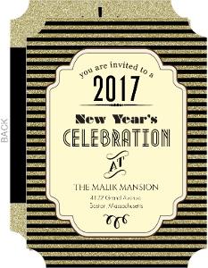 Cheap New Years Invitations - Invite Shop