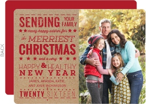 The Merriest Christmas Holiday Photo Card