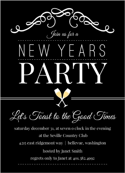 Cheap New Years Invitations Invite Shop – New Years Eve Party Invite