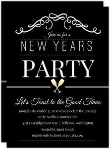 Cheap New Years Invitations | Invite Shop