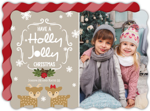 Holly Jolly Christmas Reindeer Holiday Photo Card