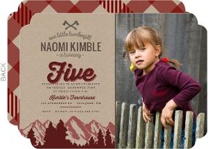 Maroon Mountains & Kraft Lumberjill Birthday Invitation