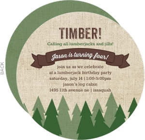 Evergreen Forest Birthday Party Invitation