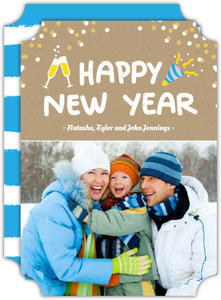 New Year Confetti New Year Photo Card