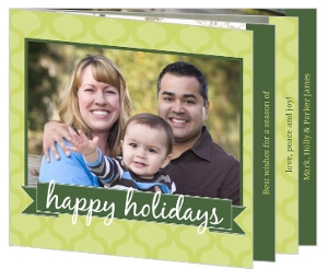 Two Shades Of Green Christmas Photo Booklet