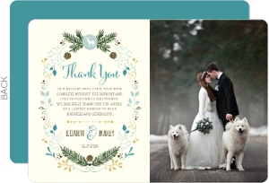 Country Charm Wedding Thank You Card