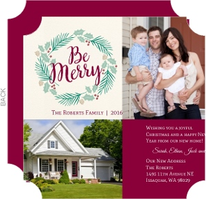 Merry Wreath Holiday Moving Announcement