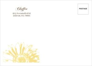 Yellow Sunflower Envelope