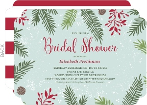 Winter Pine Bridal Shower Invitation
