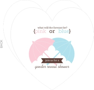 Umbrella Gender Reveal Baby Shower Invite