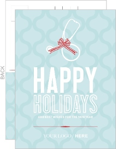 Modern Blue Pattern Medical Holiday Business Card