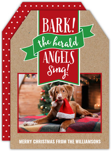 Bark the Herald Banner Christmas Photo Card
