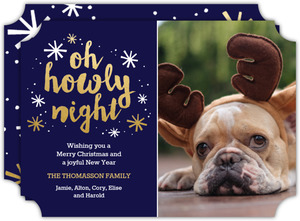 Howly Night Christmas Photo Card