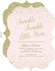 Confetti Faux Glitter Baby Shower Invitation