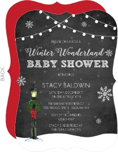 Chalkboard Winter Wonderland Baby Shower Invitation
