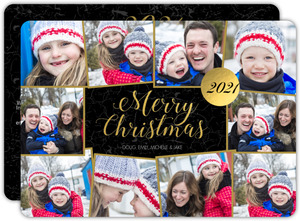 Christmas Collage Year in Review Photo Card
