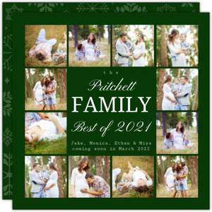 Photo Grid Year in Review Christmas Card