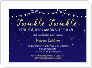 Twinkle Twinkle At Night Baby Shower Invitation