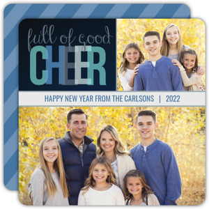 Navy Good Cheer New Years Photo Card