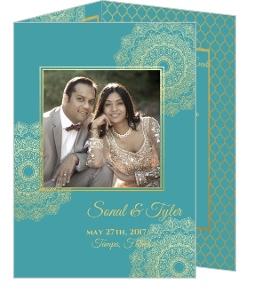 Faux Gold Mandala Wedding Invitation