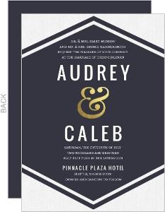Modern Ampersand Gold Foil Wedding Invitation