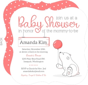 polar bear baby shower invitation cheap girl baby shower invitations