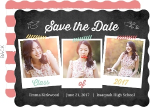 Chalkboad Snapshot Graduation Announcement