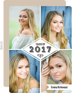 Photo Collage Diamond Graduation Announcement