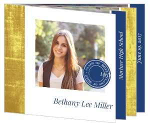 Elegant Faux Foil Graduation Booklet Invitation