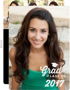 Grad Cap Portrait Graduation Invitation
