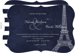 Whimsical Paris Night Wedding Invitation