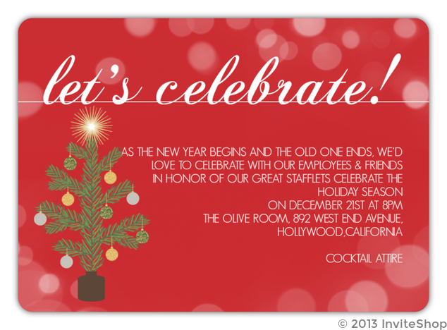 Simple Celebration Business Holiday Party Invitation Business