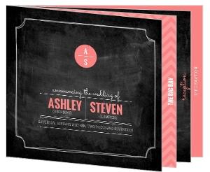Modern Chalkboard Wedding Booklet Invitation