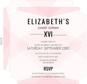Modern Geometric Sweet Sixteen Invitation