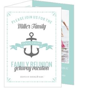 Cute Nautical Family Reunion Invitation