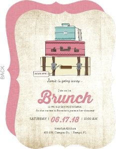 Cute Vintage Luggage Going Away Invitation