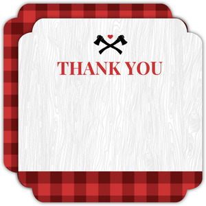 Plaid Lumberjack Thank You Card