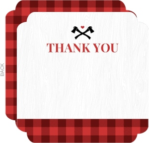 Plaid Lumberjack Thank You Card
