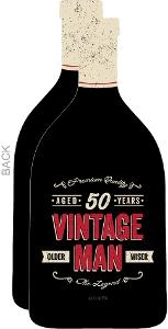 Vintage Bottle 50th Birthday Party Invitation