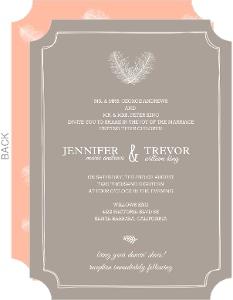Artistic Framed Feathers Wedding Invitation