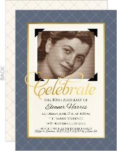 Classic Vintage Photo Birthday Invitation