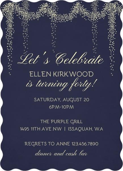 60th Birthday Party Invitation Adult Birthday Invitations