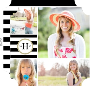 Sophisticated Glitter Collage Graduation Announcement