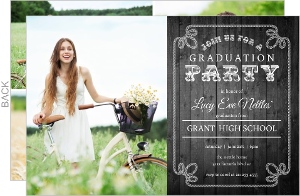 Western Rope Photo Collage Graduation Invitation