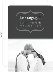 Gray Modern Brackets Engagement Announcement