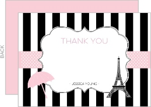 Paris Baby Shower Thank You Card