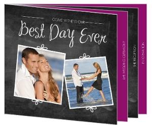 Chalkboard Wedding Booklet Invitation